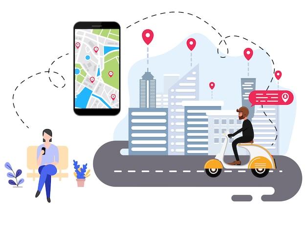 La gente está pidiendo transporte en línea