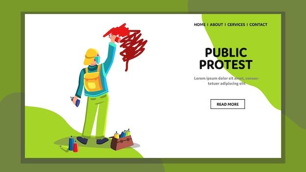 Gente protesta pública y opinión social