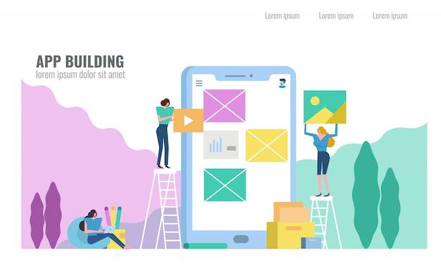 Gente que construye aplicaciones móviles