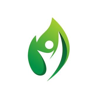 Gente salud naturaleza logo vector