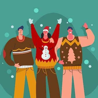 Gente con suéteres feos