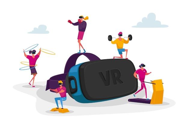 La gente usa la tecnología de realidad virtual para el entrenamiento deportivo