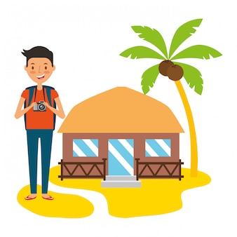 Gente de vacaciones de verano