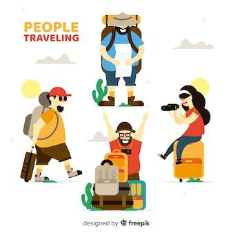 Gente viajando