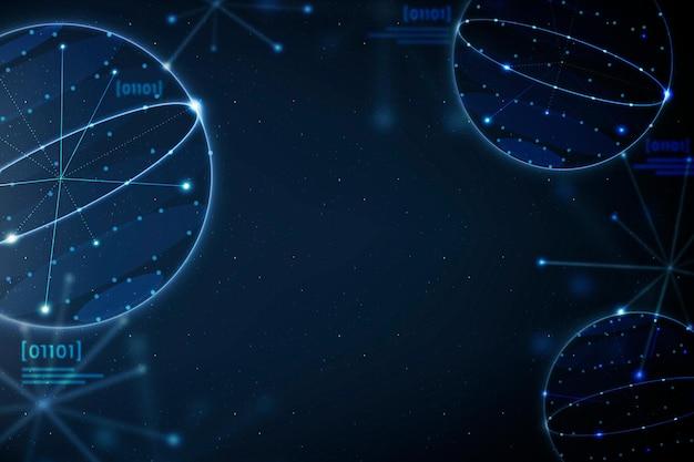 Geometría educación fondo azul vector educación disruptiva digital remix