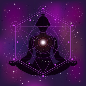 Geometría sagrada ilustración zen