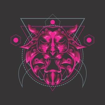 La geometría sagrada del león supremo