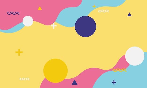 Geométrico abstracto en estilo memphis. el mejor diseño para tu negocio.