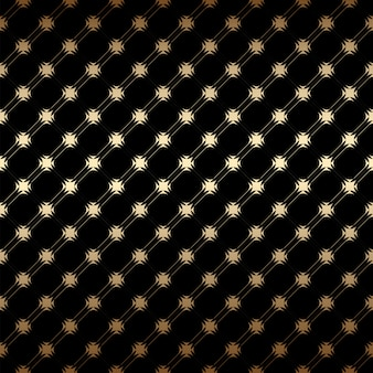 Geométrico dorado y negro sin patrón simple, estilo art deco
