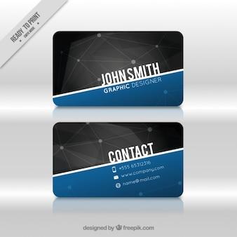 Geométrico tarjeta de visita oscura