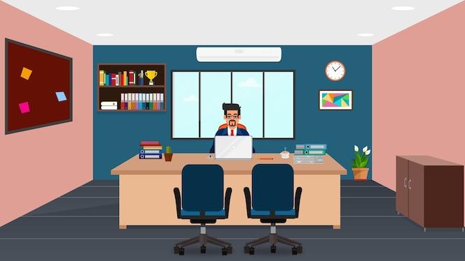 Vector 3d isom trica ilustraci n sala de oficina interior for Follando en la oficina gratis