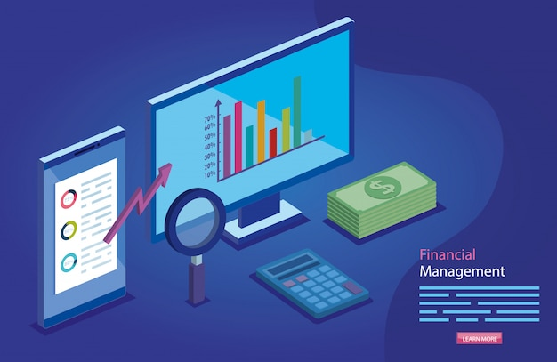Gestión financiera con computadora