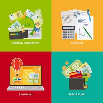 Gestión del flujo de caja y planificación financiera.