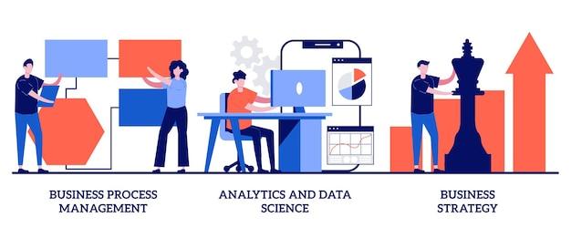 Gestión de procesos de negocio, análisis y ciencia de datos, concepto de estrategia empresarial.