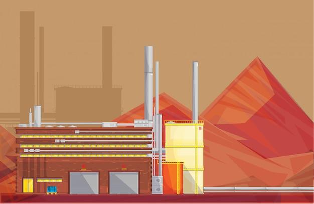 Gestión de residuos respetuosa con el medio ambiente planta industrial de procesamiento de minerales