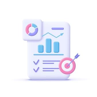 Gestión de tareas del proyecto y herramientas de planificación de tiempo efectivas ilustración vectorial 3d