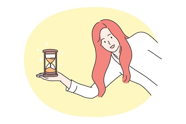 Gestión del tiempo, concepto empresarial.