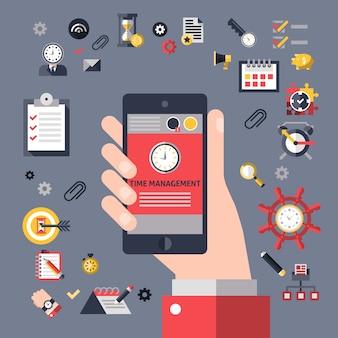 Gestión del tiempo móvil