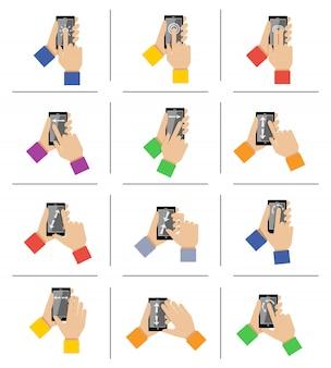 Gestos táctiles de smartphone