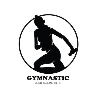 Gimnasia, silueta, joven, gimnasta, mujer