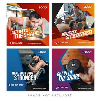 Gimnasio fitness banners