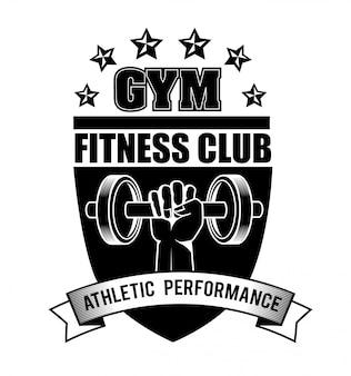 Gimnasio y fitness diseño de estilo de vida.