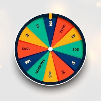 Gire la rueda de la fortuna de fondo de la suerte
