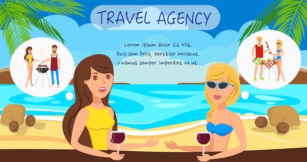 Girlfriends st sea resort personajes de dibujos animados.