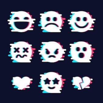 Glitch emojis colecciones