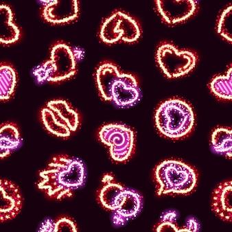 Glitter brillante corazones de fondo sin fisuras