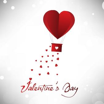 Globo de corazón de san valentín