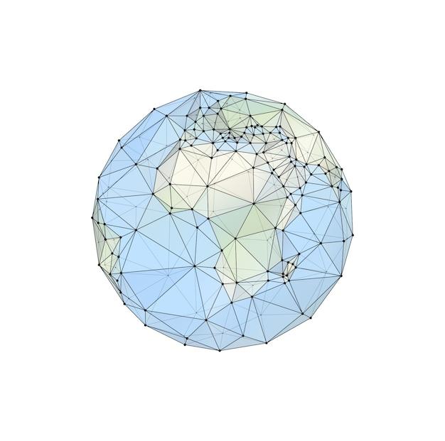 Globo, planeta. mapa de los continentes del mundo. vector