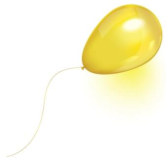 Globo volador de aire amarillo aislado