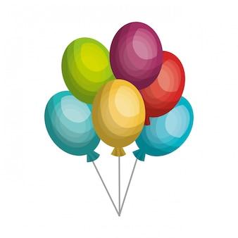 Globos aire fiesta celebración icono aislado