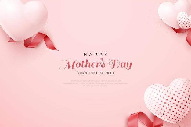 Globos de amor hermoso día de la madre.