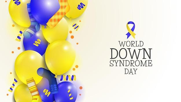 Globos y calcetines del día mundial del síndrome de down