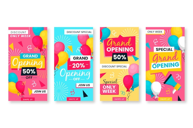 Globos de colores reabriendo pronto historias de instagram