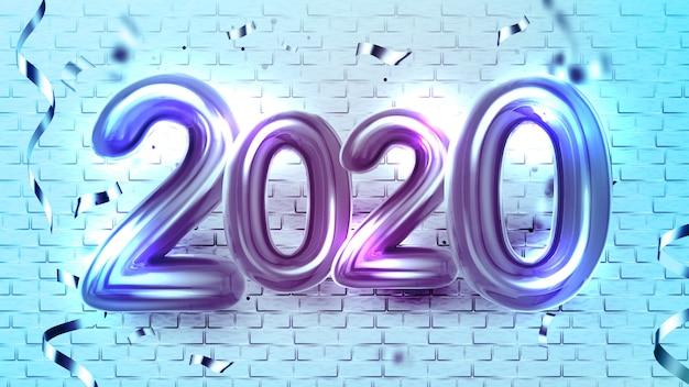 Globos de helio 2020 saludo de navidad