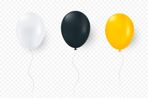 Globos de helio aislados.