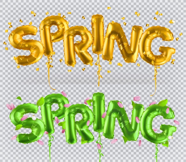 Globos de juguete dorado. primavera, icono