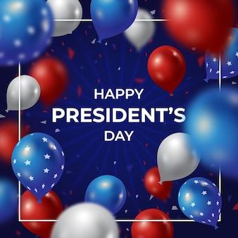 Globos realistas para la celebración del día del presidente
