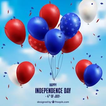 Globos realistas del día de la independencia de ee.uu.