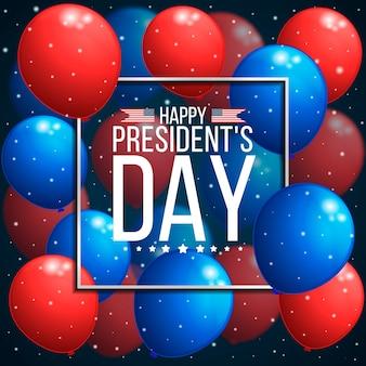 Globos realistas del día del presidente