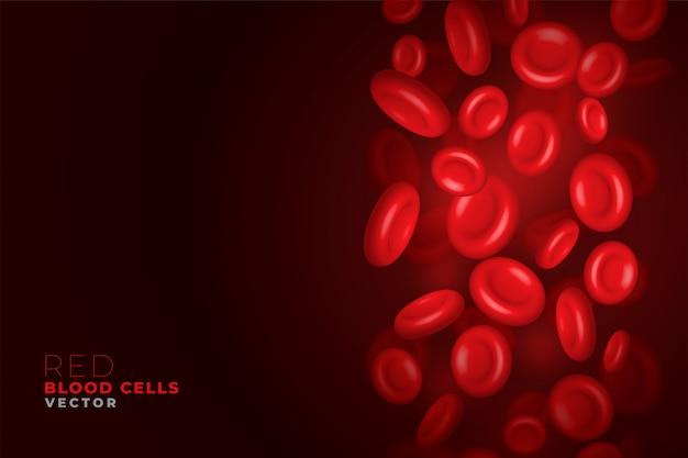 Glóbulos rojos que fluyen de fondo