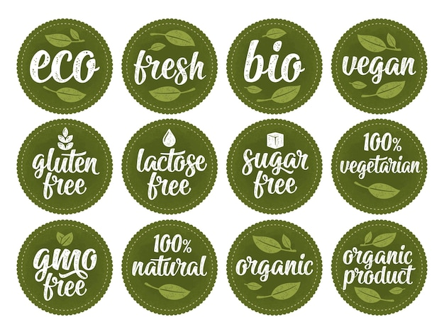 Gluten, lactosa, azúcar, letras libres de transgénicos. firmar 100 alimentos orgánicos