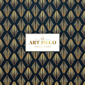 Golden art deco de patrones sin fisuras.