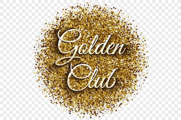 Golden club gold shiny tinsel vector illustration
