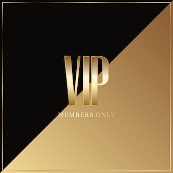 Golden logo vip