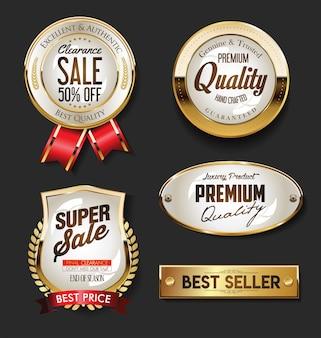 Golden sale etiquetas colección vintage retro