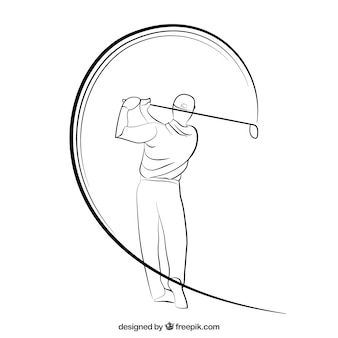 Golfista esbozado